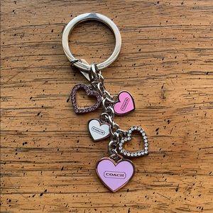 COACH Cascading Hearts Key Fob